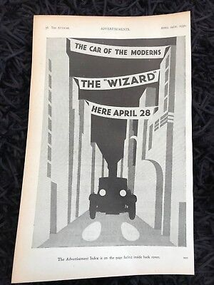 VERY RARE 1931 Second Ever HILLMAN WIZARD 'The Wizard' Old Car Advert L2