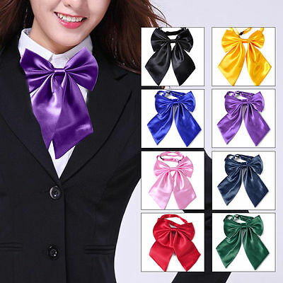Women Girl's Bowties Neck Tie Bow Tie Wedding Banquet Party Uniform Solid Wear