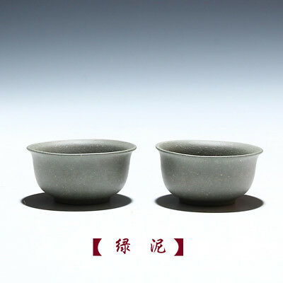 2pc Chinese tea accessories YiXing Kung Fu tea set Pu'er teacup Ceramic cup 35cc