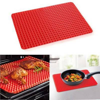Oven Baking Tray Sheets NonStick Kitchen Tools Pan Pyramid Mat Silicone-ONE