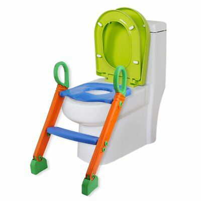 Kids Potty Training Seat with Step Stool Ladder Toddler Toilet Chair LOT MS