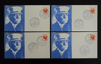 West Germany Postcards - 20th Years Philatelic Club Graf Zeppelin issue 1973