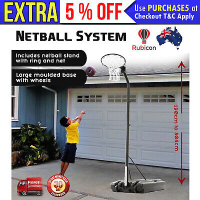 Adjustable Netball Stand Goal Ring Hoop Portable Ball Sports Safety Standards