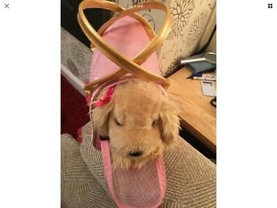 Pucci Pups Dog Bag Carrier with Cute Doggie with pink bow