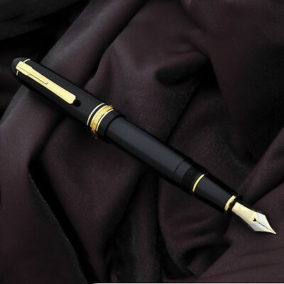 PLATINUM President Black 18K Nib Fountain Pen Same Design as Montblanc Omas