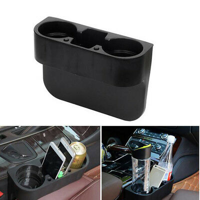 Black Cup Holder Drink Beverage Seat Wedge In Car Auto Truck Universal Mount