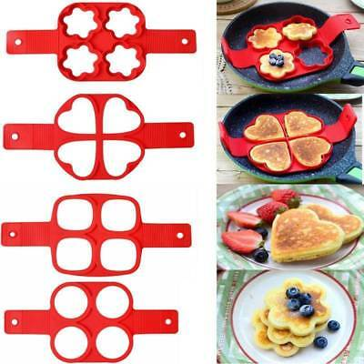 Egg Ring Pancakes Maker Cheese Egg Cooker Pan Flip Mold Nonstick Pancake Maker