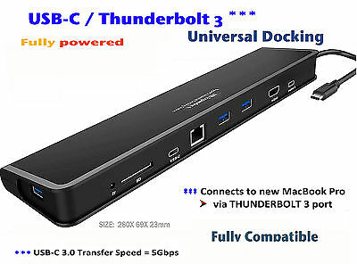 USB C and THUNDERBOLT 3 HUB ADAPTOR - 7 in 1 - MacBookPRO 2017 or later