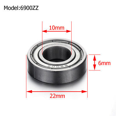 6900ZZ METAL SEALED DEEP GROOVE BALL BEARING 10mm x 22mm x 6mm