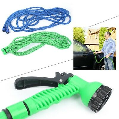 Expandable Flexible Garden Water Hose Pipe w/ Spray Nozzle Gun 25/50/75/100FT