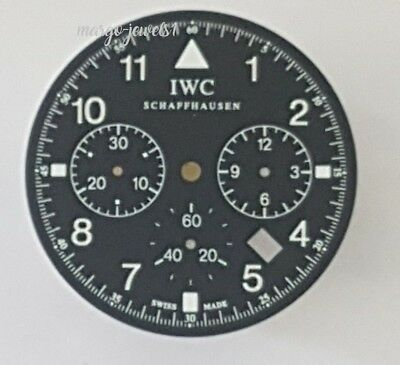 WATCH PART ORIGINAL DIAL IWC FLIEGER 3741 CHRONO DATE New Old Stock