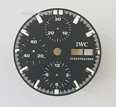 WATCH PART ORIGINAL DIAL IWC AQUATIMER 3719 CHRONO DAY DATE new old stock