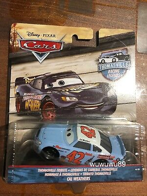 Disney Pixar's Cars Cal Weathers Thomasville Racing Legends 1:55 Mattel Diecast