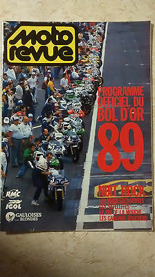 MOTO REVUE Programme officiel du BOL D'OR 1989 Nostalgie! Brochure Original #rar