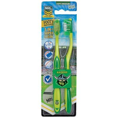 3x NRL Toothbrush Canberra Raiders 2 Pack