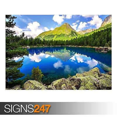 SPRING MOUNTAIN LANDSCAPE (AE010) NATURE POSTER - Poster Print Art A0 A1 A2 A3