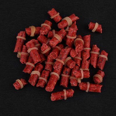 One Bag Red Fishy Smell Fish Lures Grass Carp Coarse River Fishing Baits Tackle