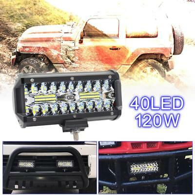 7Inch 120W 16000LM 60x CREE Combo LED Car Work Light 4WD Offroad faro 12V