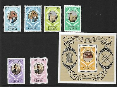 1981 Royal Wedding Set of 6 Stamps &  Mini Sheet  Complete MUH/MNH as Issued