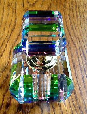 new crystal / glass perfume bottle with wand, rainbow coloured crystal 4103