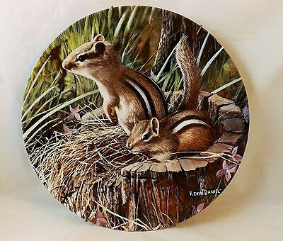 """Knowles China Plate """"The Chipmunk"""" Ltd. Ed. 4th Issue in Friends of the Forest"""