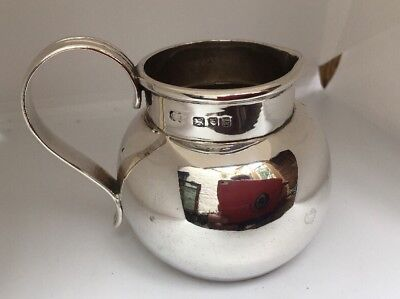 Nice Simple Quality Arts And Crafts Style Silver Milk or Cream Jug London 1918