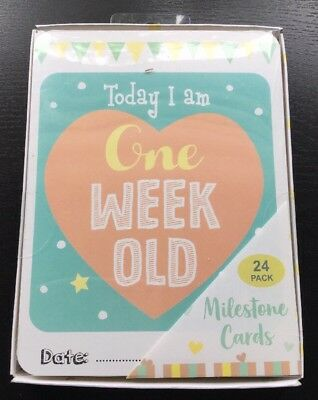 Baby's First Year - 24 Milestone Cards - Baby Shower Gift - Memorable Moments