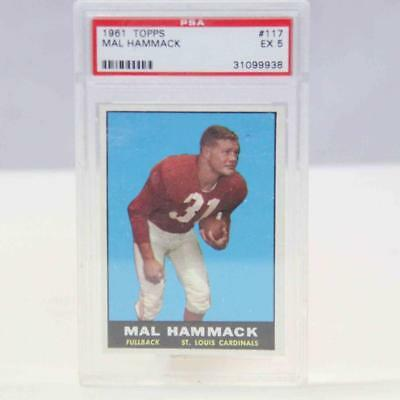 1961 TOPPS #117 Mal Hammack Encapsulated Trading Card #15332
