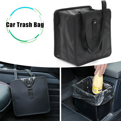 1X 6.5L Car Trash Can Litter Garbage Bin Wastebasket Storage Holder Organizer