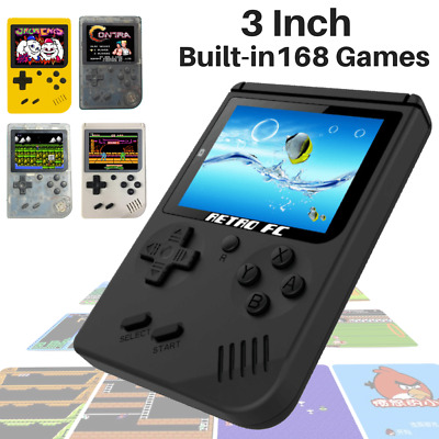 "Handheld Game Console 3.0"" Retro FC TV Game 168 Games Portable Game Players Xmas"
