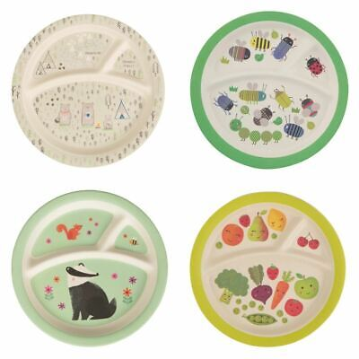 Childrens Kids Baby Plate Dining Dinner Lunch Breakfast Picnic Melamine