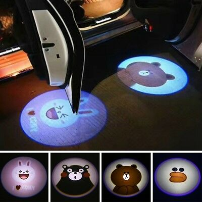 2Pcs  Auto Wireless Door Shadow Projector Logo Car Welcome Light LED Laser