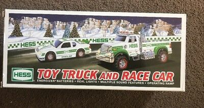HESS Toy Truck And Race Car Lights And Sounds New