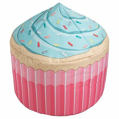 Novelty Cupcake Beanbag Bean Bag COVER Extra Large 80cm x 80cm Pink Spinkles