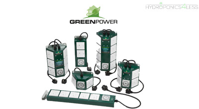 Green Power Contactors Steel Housing HID Control Unit Hydroponics Lights Setup