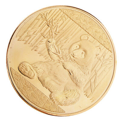 Panda Pattern Gold Plated Commemorative Coins Fashion Crafts Gifts Souvenir