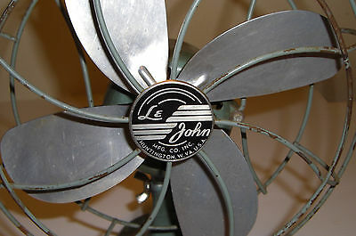 Vintage Collectible Le John Electric Fan Works Great