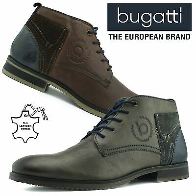 04c5d50bc5ebb Bugatti Mens Leather Chukka Casual Chelsea Desert Boots Ankle Lace Up Sizes