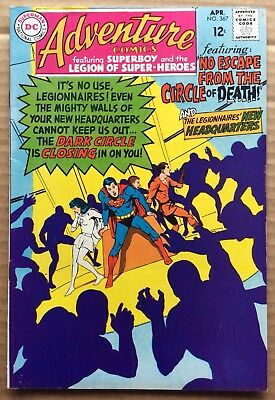 ADVENTURE COMICS #367 (1968) DC Silver Age Superboy, Legion of Super-Heroes F/VF