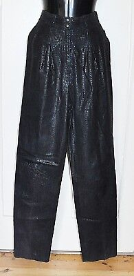 Vintage 80's PALAZZI Leather Pants