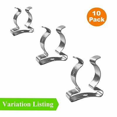 10 x Wide Base Tool Spring Terry Clips Heavy Duty Tool Storage Hangers