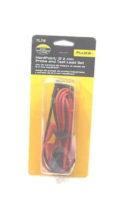 Fluke TL 75 hard point multimeter 2 mm probe and test lead set