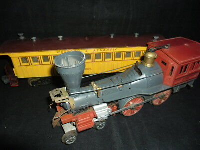 loco lionel the general steam 1862 + wagon western  made in usa