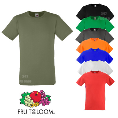 Fruit Of The Loom MEN'S T-SHIRT SLIM FIT MUSCLE TOP TEE GYM SUMMER PLAIN COTTON