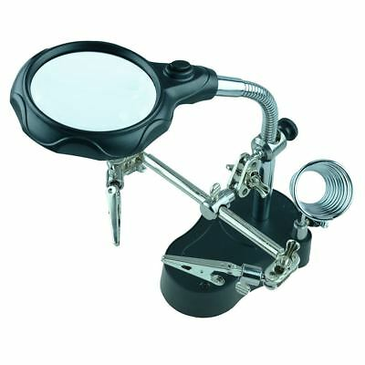 Deluxe Helping Hands with Magnifier and Light Soldering Tool