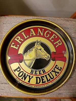 1940's Otto Erlanger Brewing Co, Pony Deluxe Beer Tray