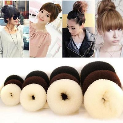 4 Sizes Women lady girl headband Hair Styling Ring Style Dispenser Buns Head Too