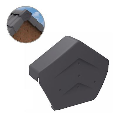Grey Angled Ridge End Cap for Dry Verge Systems, Gable Apex Roof Tiles