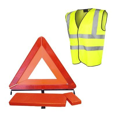 Large Reflective Warning Triangle Sign & Safety Vest / Emergency Car Recovery