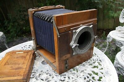 13x18 wooden large format plate camera wetplate, dryplate. paper negatives.